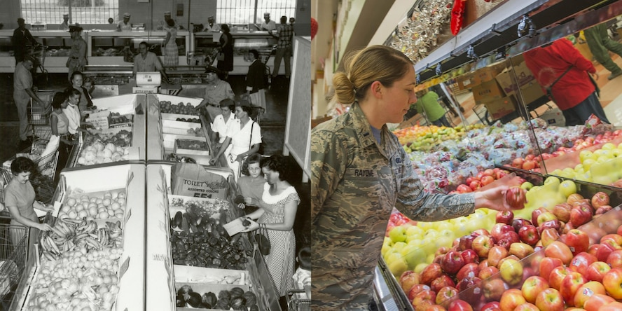Several base commissary facilities, including the main one in building 56, were consolidated and opened in a single base commissary in the newly renovated cold storage plant, Bldg. 1961. The Commissary ranks first for non-pay benefits with military patrons and still offers overall savings of more than 32 percent compared with retail stores.