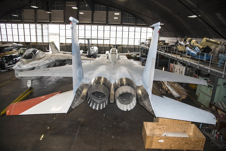 DAYTON, Ohio -- The McDonnell Douglas F-15 Streak Eagle is currently in storage at the National Museum of the United States Air Force. This aircraft can be viewed on the Behind the Scenes Tours. (U.S. Air Force photo by Ken LaRock)