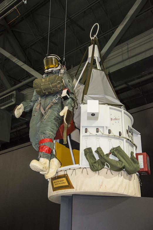DAYTON, Ohio -- Excelsior Gondola on display in the Space Gallery at the National Museum of the United States Air Force. (U.S. Air Force photo by Ken LaRock)