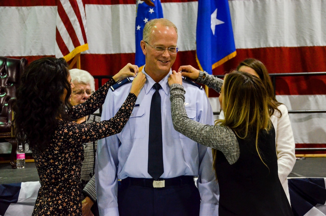 Brig. Gen. Steven Parker,commander of the 94th Airlift Wing and Dobbins Air Reserve Base, was promoted to the rank of brigadier general at a ceremony on base Jan. 6, 2017. Parker will be the first one-star general to serve as the 94th AW commander since 2006. (U.S. Air Force photo / Tech. Sgt. Kelly Goonan)