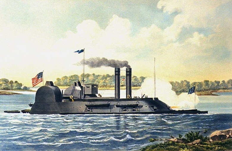 One of the Union ironclads to engage at Grand Gulf, the U.S.S. Lafayette was a converted side wheel steamer upgraded to an ironclad ram in St. Louis in 1862. After supporting the Vicksburg campaign, the Lafayette served on the Red River campaign in 1864.