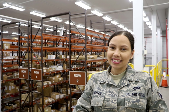 Senior Airman Julimar Fuentes, 927th Logistics Readiness Squadron, MacDill AFB FL, serves as a supply technician in the Air Force Reserve, and a critical care nurse in her civilian job. While on duty at Mease Countryside Hospital, Clearwater Florida, Fuentes was instrumental in saving the life of a patient that, unbeknownst to her, was the brother of another Air Force Reservist. (U.S. Air Force photo by SSgt Xavier Lockley)