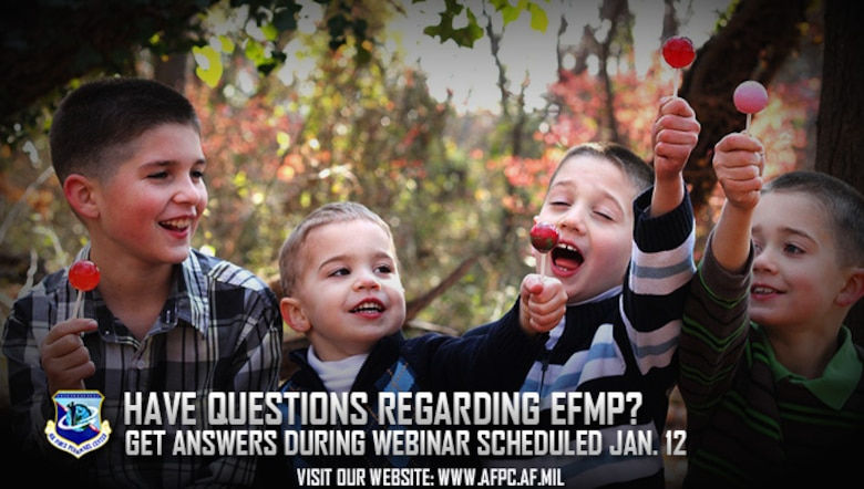 The Air Force Personnel Center will hold two Exceptional Family Member Program webinars Jan. 12, 2017. EFMP allows Airmen to proceed to assignment locations where suitable medical, educational, and other resources are available to treat special needs family members. (U.S. Air Force courtesy photo)