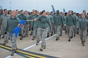 Presidential Inaugural Parade volunteers practice marching on the Joint Base Andrews, Maryland, flight line Jan. 8, 2017. Nearly 90 459th ARW reservists are slated to represent the more than 69,000 members of Air Force Reserve Command in the January 20th parade. (U.S. Air Force photo/Tech. Sgt. Kat Justen)