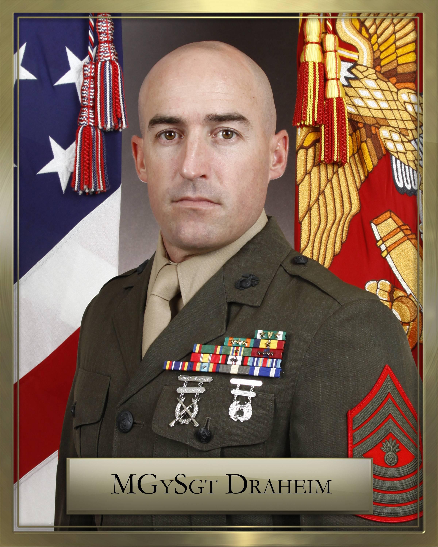 mgysgt m draheim 1st marine division leaders
