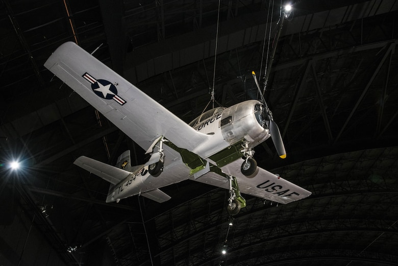 DAYTON, Ohio -- North American T-28A Trojan on display in the Cold War Gallery at the National Museum of the United States Air Force. (U.S. Air Force photo)