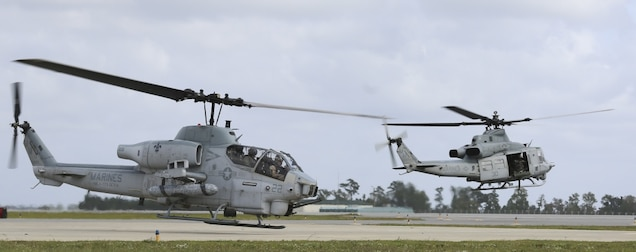 Marines with Marine Light Attack Helicopter Squadron 773 traveled from the 4th Marine Aircraft Wing in New Orleans to Marine Corps Air Station New River, North Carolina, in support of 10th Marine Regiment, 2nd Marine Division during routine training on Oct. 5, 2016. The two units worked in conjunction with Marine Light Attack Helicopter Squadron 167 and Marine Light Attack Helicopter Squadron 269 to provide air support for 10th Marines. HMLA-773 is the only Reserve Marine Light Attack Helicopter Squadron in the Marine Corps.