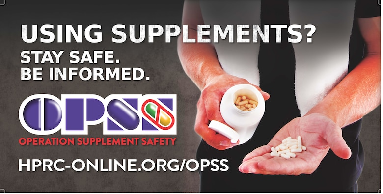 Operation Supplement Safety aims to help Airmen make informed, responsible decisions on supplement use. (U.S. Air Force graphic)