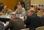 """DLA Director Air Force Lt. Gen. Andy Busch speaks to DLA Troop Support leaders during a review of the annual operating plan Jan. 5 in Philadelphia. """"You have been capable in driving significant change in your business practice,"""" he said. """"But the changes that are required of us going forward are equally as significant."""""""
