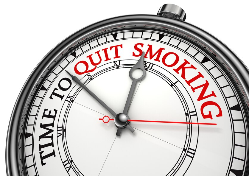 Time to quit smoking graphic