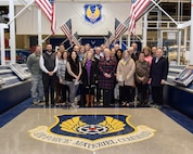 Group photo of the Leadership Oklahoma group at Hollywood and Vine inside building 3001 during a tour of the  Oklahoma City Air Logistics Complex and Tinker Air Force Base Jan. 5, 2017. Leadership Oklahoma allows key civic leaders from across the state to learn about the capabilities and importance of military installations within Oklahoma and to interface with key military leaders to build partnerships and mutual understanding. (U.S. Air Force photo/Greg L. Davis)