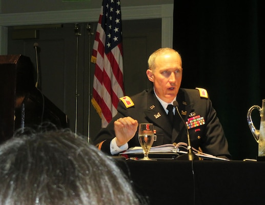 """We need to address the entire Everglades ecosystem as a whole and I look forward to working alongside our partnering agencies to continue these efforts,"" said Col. Jason Kirk, U.S. Army Corps of Engineers Jacksonville District Commander at the Everglades Coalition Conference Jan. 6, 2017 in Fort Myers, Fla."