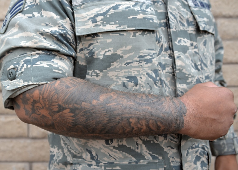 New tattoo policy invites qualified recruits luke air for Military tattoo policy 2017