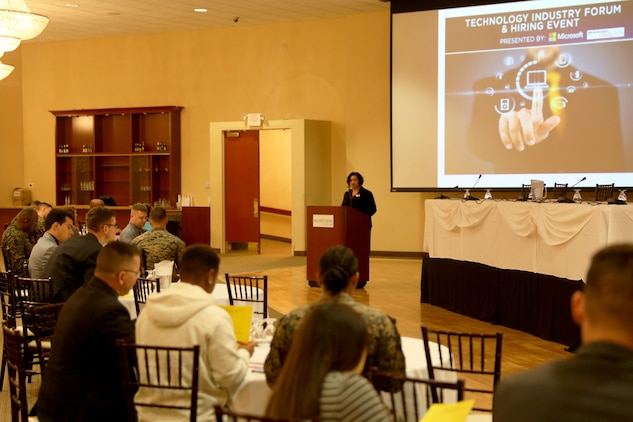 Camp Pendleton held a Technology Industry Forum at the Pacific Views Event Center, Jan 12, 2017. The event was presented by Microsoft and intended to educate   transitioning service members about career paths in the technology industry.