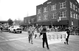 Employees from the Tulsa District, U.S. Army Corps of Engineers, march through the city streets during the 38th annual Martin Luther King Jr. Commemorative Parade in Tulsa, Okla., January 16, 2017.   Personnel from the Tulsa District have been participating in the city of Tulsa's MLK Day parade for more than 20 years. (U.S. Army Corps of Engineers photo by Preston Chasteen/Released)
