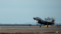 An F-35B Lightning II with Marine Fighter Attack Squadron 121, lands at Marine Corps Air Station Iwakuni, Japan, Jan. 18, 2017. VMFA-121 conducted a permanent change of station to MCAS Iwakuni, from MCAS Yuma, Ariz., and now belongs to Marine Aircraft Group 12, 1st Marine Aircraft Wing, III Marine Expeditionary Force. The F-35B Lightning II is a fifth-generation fighter, which is the world's first operational supersonic short takeoff and vertical landing aircraft. The F-35B brings strategic agility, operational flexibility and tactical supremacy to III MEF with a mission radius greater than that of the F/A-18 Hornet and AV-8B Harrier II in support of the U.S. - Japan alliance.