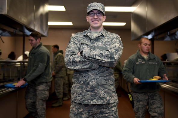 U.S. Air Force Staff Sgt. Gregory Mason, a services specialist assigned to the 169th Force Support Squadron, of the South Carolina Air National Guard at McEntire Joint National Guard Base, S.C., Jan. 8, 2017. (U.S. Air National Guard photo by Senior Airman Ashleigh Pavelek)