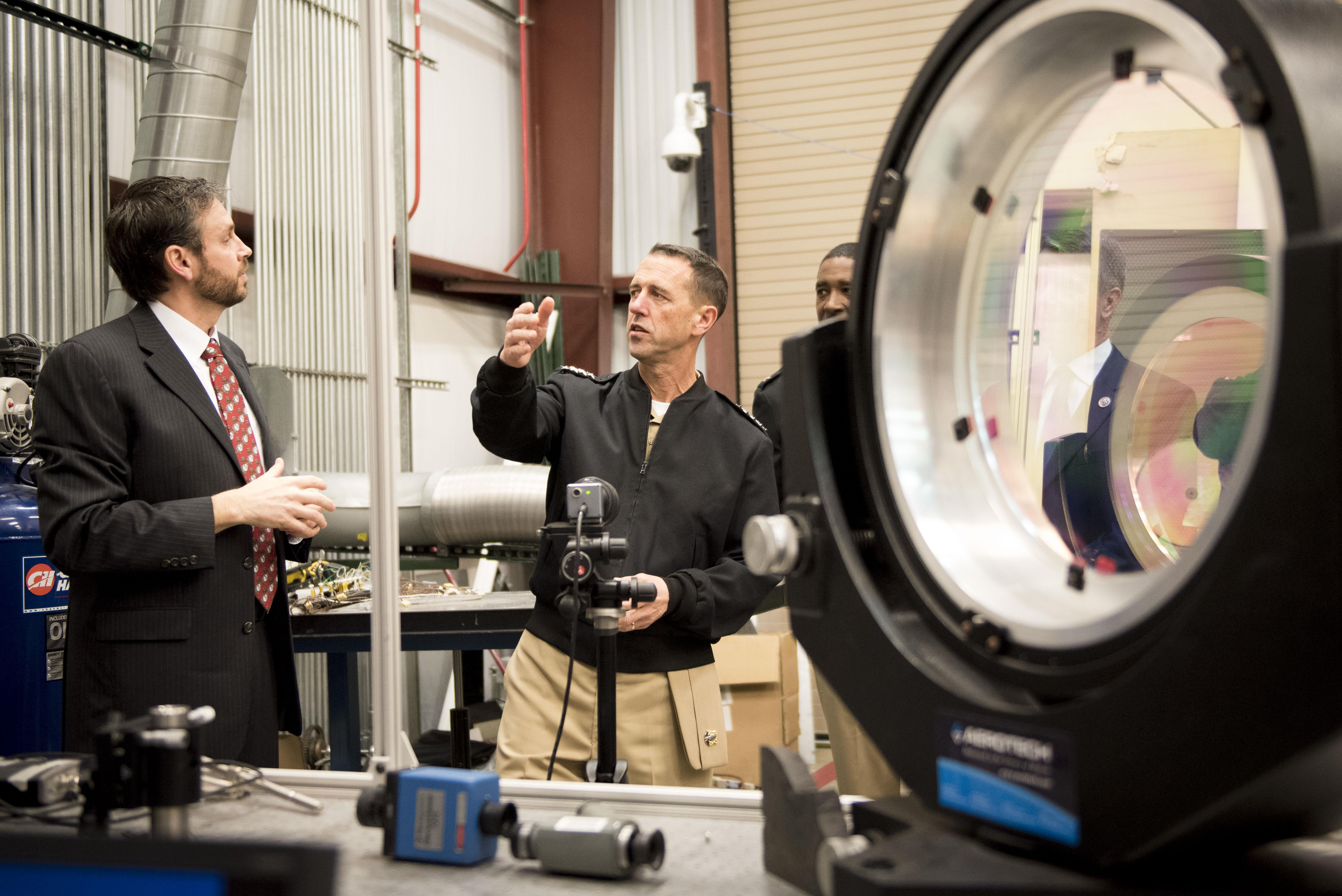 CNO Hosts All Hands Call - Tours Navy Electric Weapon and Cyber Warfare  Engineering Facilities