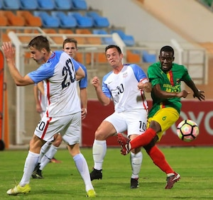 USA vs Mali at the 2017 CISM World Football Cup in Muscat, Oman 13-29 January.