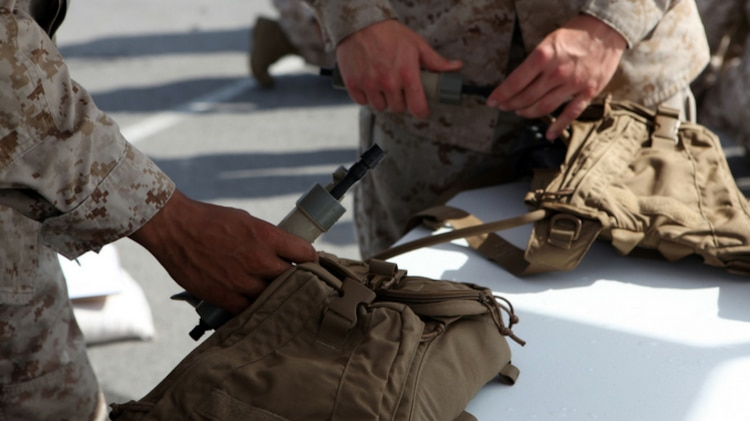 The Individual Water Purification System II is an upgrade to the current IWPS issued to all Marines. The handheld, tube-like water purification system provides individual Marines with the ability to quickly obtain drinkable water on the go without the need of power and assembly. IWPS II will allow Marines to be able to instantly quench their thirst in isolated locations or emergency situations. (U.S. Marine Corps photo by Sgt. Amber Blanchard)