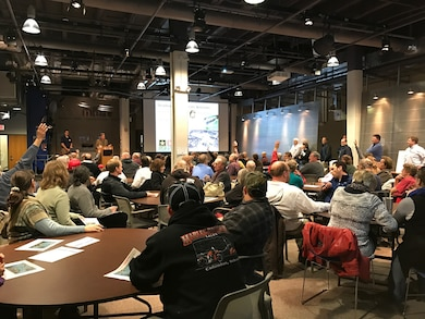 An open house was held on January 17, 2017 to update the public on the Deadmans Run flood risk management study in Lincoln, Nebraska. Over 100 were in attendance.