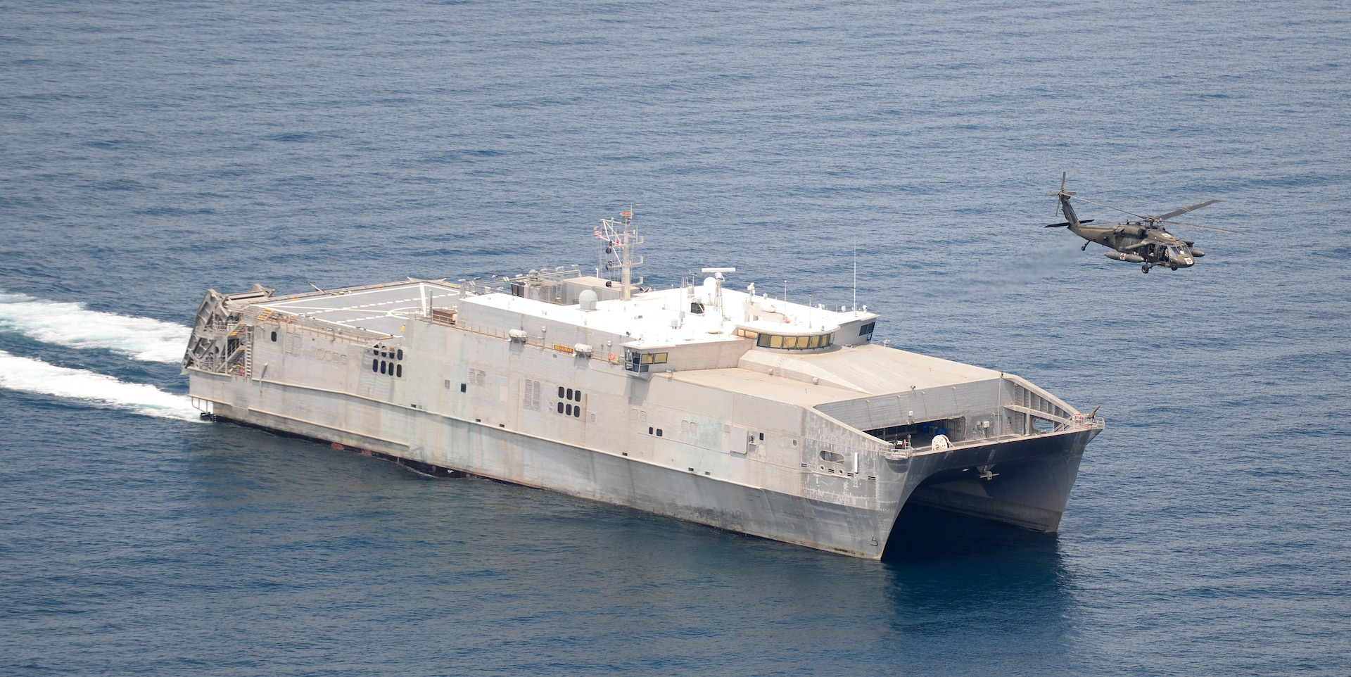 FILE PHOTO: USNS Spearhead (T-EPF 1) during UNITAS 2016 exercise last year in Panama. Spearhead, with embarked supporting detachments, is deploying to Guatemala, Honduras and Colombia for the Continuing Promise 2017 humanitarian mission. (U.S. Navy Photo by Mass Communication Specialist 1st Class Jacob Sippel)