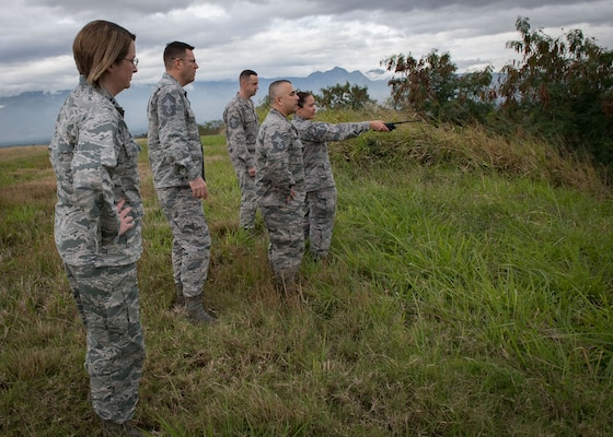 Members of the Air Combat Command Staff Assistance Visit team take a tour of the Soto Cano airfield. The SAV team conducted an airfield compliance assessment at Soto Cano Air Base, Honduras, Jan. 17-20.