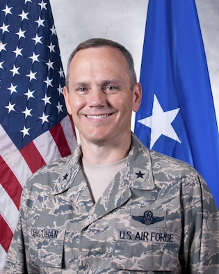 Official portrait of Brig. Gen. Charles S. Corcoran, 380th Air Expeditionary Wing commander.