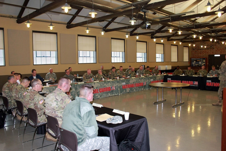 Approximately 30 members of the U.S. Army's Total Force – Active Duty, U.S. Army Reserve, and National Guard – met Jan. 18-19, at the Iowa National Guard's Camp Dodge Joint Maneuver Training Center in Johnston, Iowa, to take part in a Regional Total Army Conference. Officials discussed current issues and how they can help synchronize training efforts to produce stronger, better-trained Soldiers.