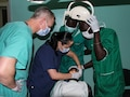 A team of U.S. military and Senegalese medical professionals examine a dental patient during Medical Readiness Training Exercise 17-1 at La Sante des Armees Hospital in Dakar, Senegal, Jan. 12, 2017. MEDRETE is a combined effort between the Senegalese government, U.S. Army Africa, the U.S. Army Reserve 332nd Medical Brigade in Nashville, Tenn., and the Vermont Air National Guard. MEDRETE 17-1 is the first in a series of medical readiness training exercises that U.S. Army Africa is scheduled to facilitate within various countries in Africa, and serves as an opportunity for the partnered militaries to hone and strengthen their general surgery and trauma skills while reinforcing the partnership between the countries. The mutually beneficial exercise brings together Senegalese military and U.S. Army medical professionals to foster cooperation while conducting medical specific tasks. (U.S. Army Africa photo by Maj. Simon Flake