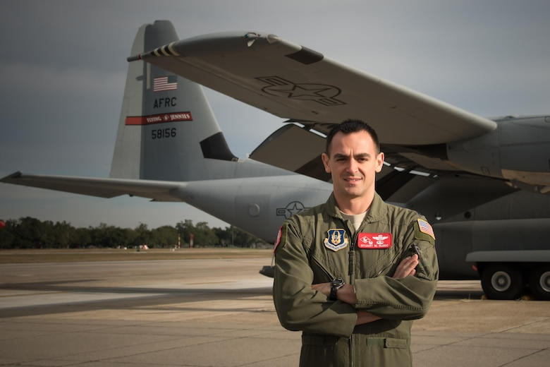 "Lt. Col. Stuart Rubio, 815th Airlift Squadron commander, prepares for a training flight at Keesler Air Force Base Jan. 26. The 815th AS, ""Flying Jennies,"" have been steadily rebuilding since the decision to keep the squadron at Keesler was made in 2015. (U.S. Air Force photo/Staff Sgt. Heather Heiney)"