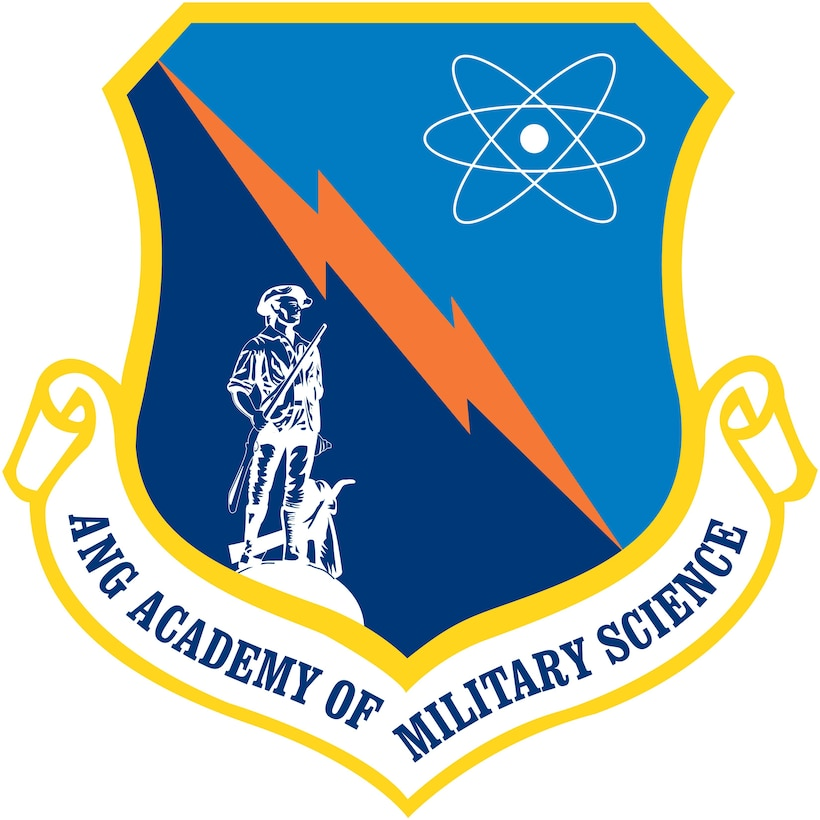 Air National Guard Academy of Military Science official shield. (U.S. Air National Guard graphic.)