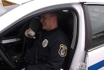 Officer David Webb, Defense Supply Center Columbus, police officer speaks to dispatch.