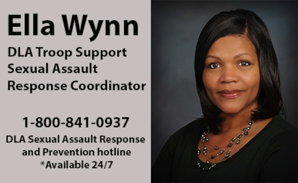 Ella Wynn is the sexual assault response coordinator at DLA Troop Support and works to help ensure employees have a safe work environment that is free of sexual assault.