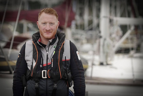 Ray Hoogendijk, 100th Force Support Squadron Outdoor Recreation program manager, poses for a photograph after completing his Yacht Master offshore practical exam November 2016, in Falmouth, Cornwall, England. Hoogendijk recently joined the outdoor recreation team and brings a wealth of experience and outdoor knowledge to RAF Mildenhall, and will be organizing many different outdoor activities and trips for Airmen and their families. (Courtesy photo)