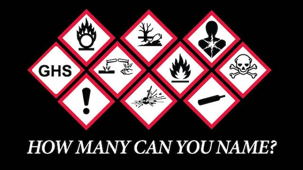 "In this month's safety gram, Defense Contract Management Agency's Safety and Occupational Health Division reminds agency team members of the Risk Management Program Rules concerning chemical safety. Chemicals often play an important role at both work and home, but they can be dangerous if proper safety standards are not maintained. According to the Occupational Safety and Health Administration, the Globally Harmonized System for Hazard Communication, or GHS, was developed by the United Nations ""in order to bring about uniform standards in chemical regulations."" (DCMA graphic by Thomas Perry)"