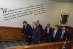 Defense Secretary Jim Mattis, second from left, walks with Jordan's King Abdullah II, left, inside the Pentagon, Jan. 30, 2017. DoD photo by Air Force Staff Sgt. Jette Carr