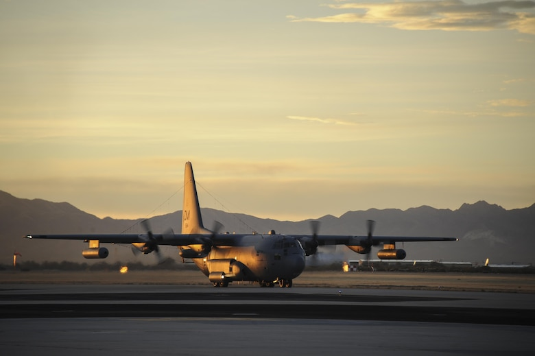 An EC-130H Compass Call assigned to the 55th Electronic Combat Group takes off from Davis-Monthan Air Force Base, Ariz., Jan. 10, 2017. Airmen from the 355th Fighter Wing deployed to Turkey in support of Combined Joint Task Force Operation Inherent Resolve, a multinational effort to weaken and destroy the Islamic State of Iraq and the Levant. (U.S. Air Force photo by Airman 1st Class Mya M. Crosby)