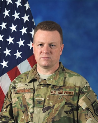 U.S. Air Force Colonel Jeffrey Schreiner, vice commander, 379th Air Expeditionary Wing was photographed on May 22, 2017. (captioning by TSgt Bradly A. Schneider/Released)