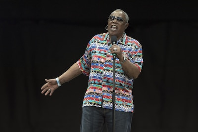"Rock and Roll Hall of Fame member Sam Moore performs the hit song ""Soul Man"" for the 2017 Department of Defense Warrior Games opening ceremonies at Soldier Field in Chicago, July 1, 2017. The DoD Warrior Games are an annual event allowing wounded, ill and injured service members and veterans to compete in Paralympic-style sports. DoD photo by EJ Hersom"