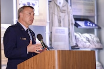 Retired U.S. Air Force Lt. Col. Gregory Thornton provides remarks after receiving the Silver Star medal during a ceremony at the National Museum of the United States Air Force in Dayton, Ohio, June 30, 2017. Thornton received the Silver Star for his actions on April 6, 2003 while supporting 'Advance 33,' the call sign for a ground forward air controller attached to Task Force 2nd Battalion, 69th Armor, during combat operations in Iraq. The Silver Star is the third-highest combat decoration for gallantry in action that can be awarded to a member of the United States Armed Forces. (U.S. Air Force photo by Wesley Farnsworth)