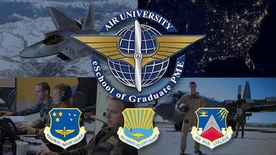 The eSchool brings the distance education programs of the Air War College, Air Command and Staff College, and Squadron Officer College together into a cohesive framework delivering the right education to the right person at the right time.
