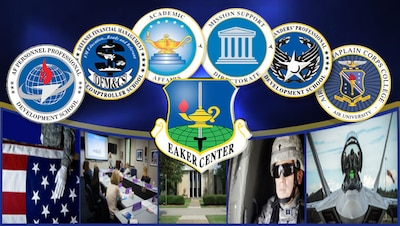 The Eaker Center supports the Air Force mission by providing functionally-aligned technical training and professional continuing education to Air Force and other Department of Defense (DoD) personnel, as well as offers civilian undergraduate education.