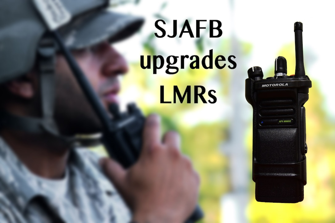 942 new land mobile radios have been programmed and distributed by the 4th Communications Squadron. The LMR's consist of the Motorola XTS5000, XTL5000 and the APX series. (U.S. Air Force photo illustration by Airman 1st Class Kenneth Boyton)
