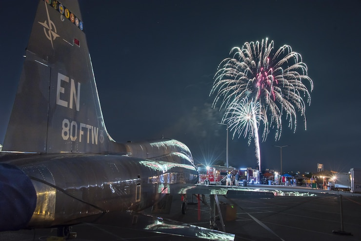 Sheppard Air Force Base, Texas, opened its gates to the public in celebration of Independence Day, July 4, 2017. Thousands of Texomans filled the base to enjoy Freedom Fest; a free event which featured three live bands, aircraft displays, food trucks galore, and an extravagant firework display to cap off the evening. (U.S. Air Force photo by Staff Sgt. Kyle E. Gese/Released)