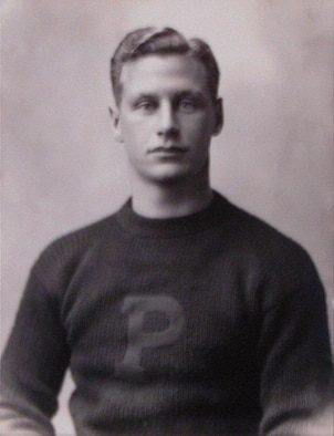 "HOPD-Historical photo of Hobart Amory Hare ""Hobey"" Baker (January 15, 1892 – December 21, 1918). Hobey Baker was a standout athlete at Princeton University, winning the maximum number of ""letters,"" by leading both the hockey and football teams to 3 consecutive winning seasons. Photo Circa 1910-1914  (108th Wing photo available from Wikipedia courtesy of Princeton Frist Campus Center)"
