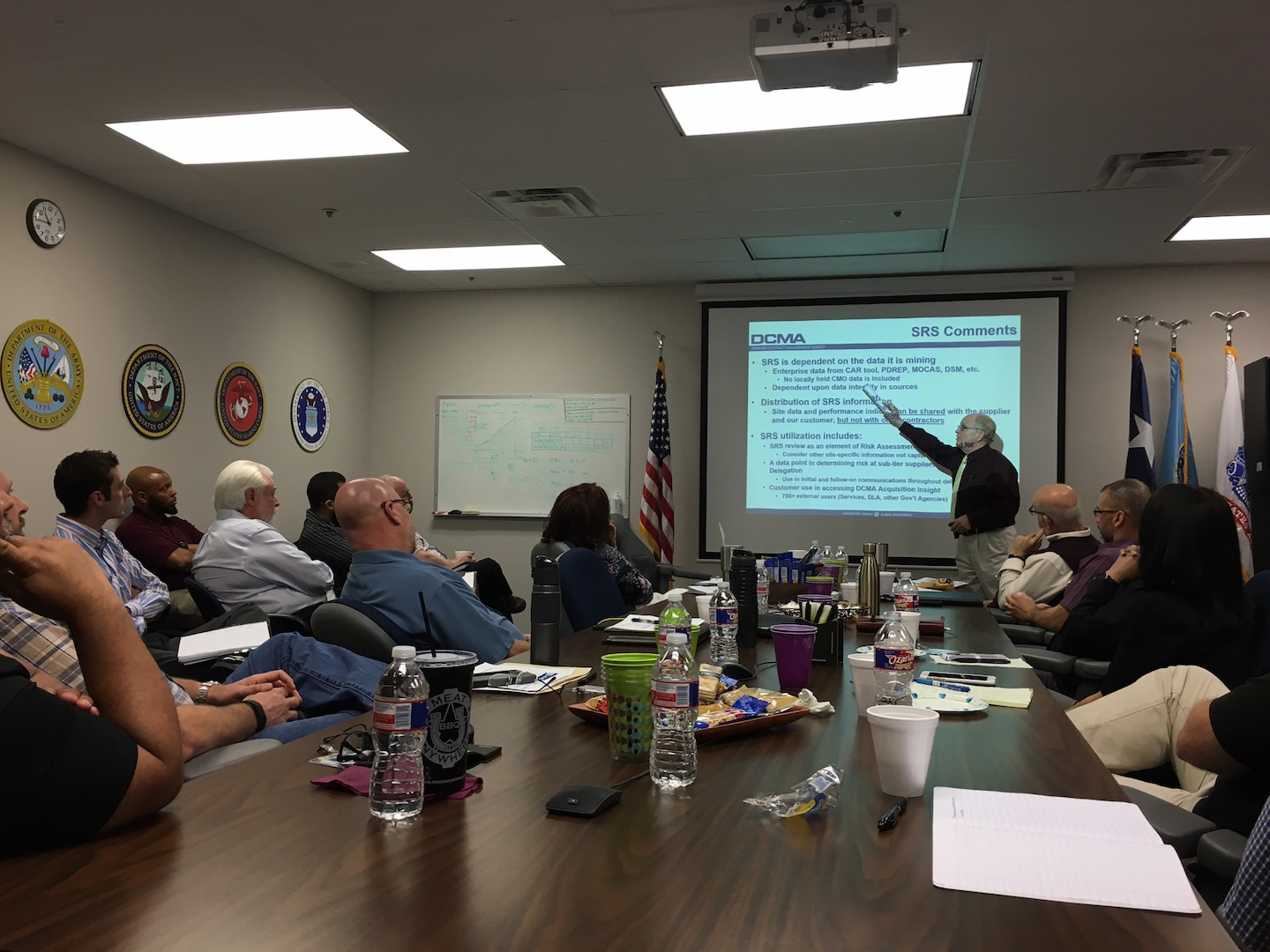 Michael Best, a quality engineer in the Technical Directorate, provided an update in April on the Supplier Risk System to Defense Contract Management Agency employees from the Central Region. (DCMA photo by Troy Guerra)