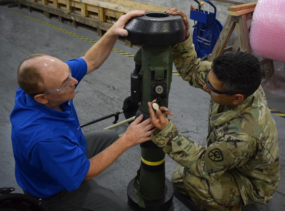 U.S. Army Reserve Soldiers from the 295th Ordnance Company out of Hastings, Neb., work with Army Civilians while completing their annual training at Crane Army Ammunition Activity. The Soldiers are receiving valuable experience handling munitions to increase mission readiness.