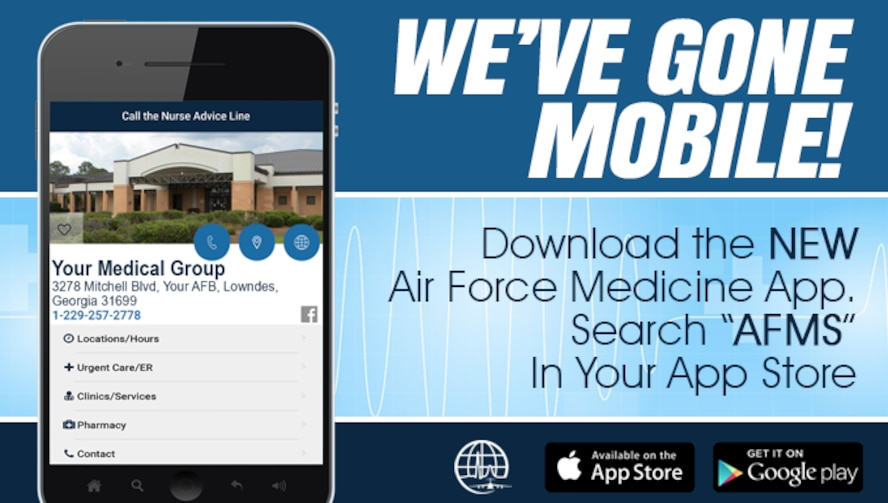The Air Force Medical Service is launching a mobile app that will let users access the news and information available on the AFMS website right from their smartphones.