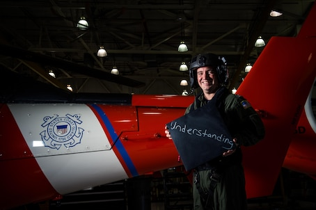"""1. What is your name and what do you do in the Coast Guard? """"Leonel Robles, I'm an MH-65 Aircraft Commander at Coast Guard Air Station Atlantic City.""""  2. Describe diversity in a word or two and explain what it means to you. """"I grew up moving a lot as a kid. I lived in two boroughs in NYC, Puerto Rico, Lakewood, New Jersey and eventually Parsippany New Jersey. Each one of those places was unique and had a different """"culture"""" and sometimes different languages. What was acceptable in one wasn't necessarily acceptable in others. From an early age, I learned the value of diversity, appreciating the unique differences that individuals bring to the table and above all of being respectful of others. My experiences motivated me to chase my dreams which eventually led me to a career as a Coast Guard helicopter pilot.""""   3. How has your experience and background prepared you to be effective at your job? """"As a military officer, you're put in leadership positions fairly early in your career. Whether you're running a shop or leading an aircrew on a mission, the people we work with all have their own stories, backgrounds and motivations. I've tried my best to get to know the people I work with, where they're from, what motivates them and where they're trying to go. When you look at people with a holistic view I think you're able to better understand them and ultimately be a better leader.""""  4. Tell me a little bit about your life outside of work. """"I try and maintain a fairly active life outside of the Coast Guard. I've been taking graduate classes at Indiana University and I've had the opportunity to travel to some cool places. Last year I had the opportunity to travel to Athens, Greece and Tampa, Florida to participate in two student projects where we helped two different organizations develop their strategy. It was a great opportunity to learn about different industries, but more importantly, an opportunity to see how folks in other professions think and tackle prob"""